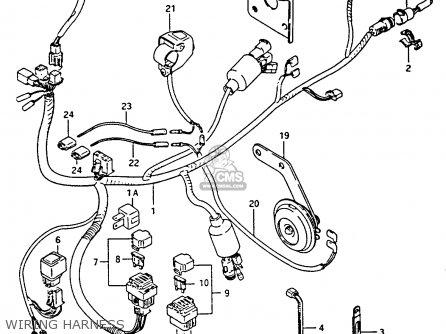 Suzuki Lt-f4 1991 wdxm Wiring Harness