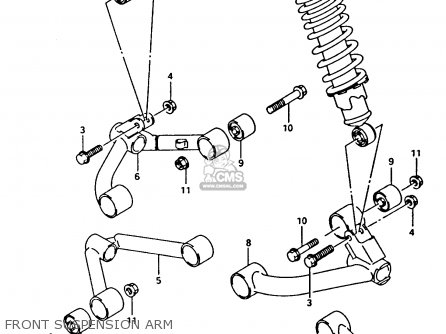 Suzuki Lt-f4 1993 wdxp Front Suspension Arm