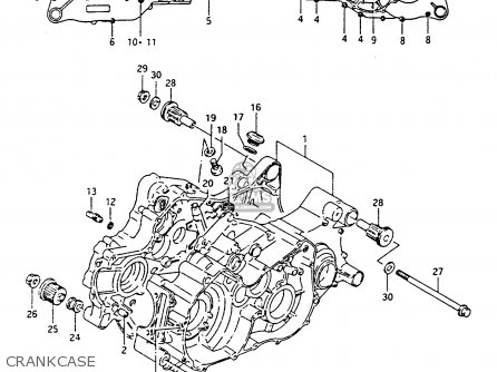 Suzuki Lt-f4 1994 wdxr Crankcase