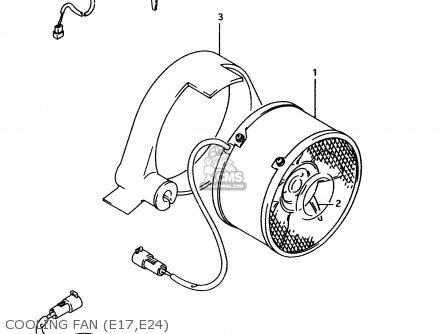Suzuki Lt-f4 1996 wdt Cooling Fan e17 e24