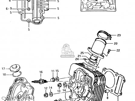 Suzuki Lt-f4 1996 wdt Cylinder Head