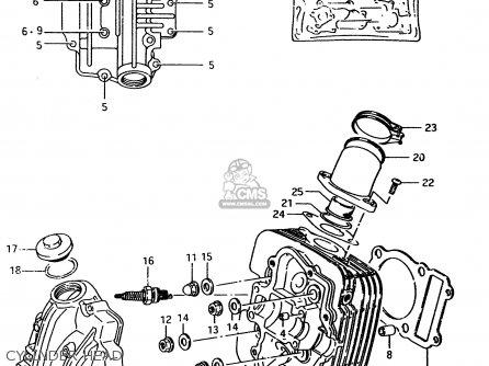 Suzuki Lt-f4 1997 wdv Cylinder Head