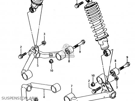 Suzuki Lt-f4 1997 wdv Suspension Arm