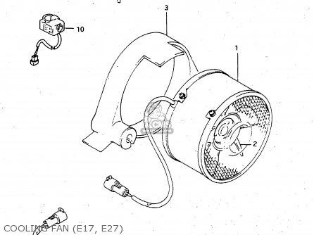 Suzuki Lt-f4 1997 wdxv Cooling Fan e17  E27