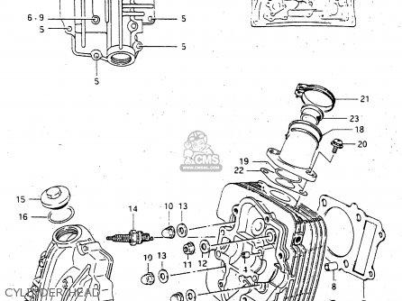 Suzuki Lt-f4 1997 wdxv Cylinder Head