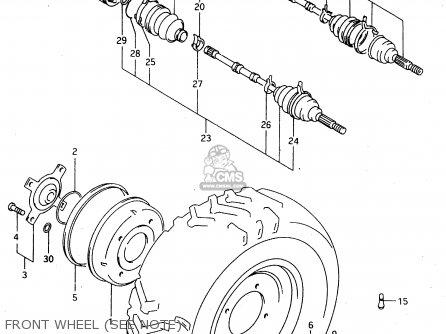Suzuki Lt-f4 1997 wdxv Front Wheel see Note
