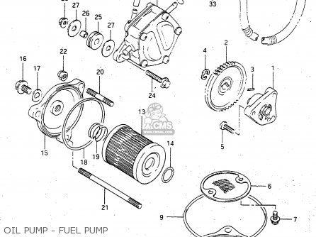 Suzuki Lt-f4 1997 wdxv Oil Pump - Fuel Pump
