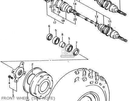 Suzuki Lt-f4 1998 wdw Front Wheel see Note