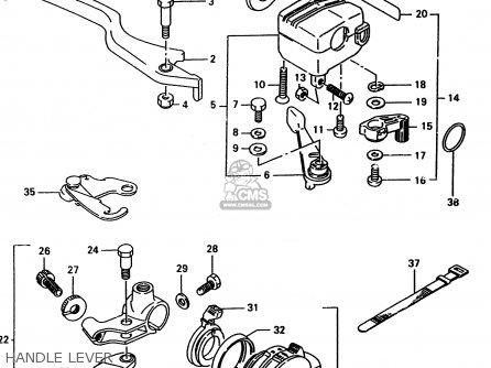 Suzuki Lt-f4 1998 wdw Handle Lever
