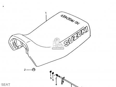 Suzuki Lt-f4 1998 wdw Seat