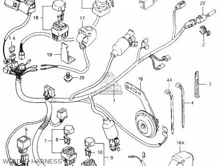 Suzuki Lt-f4 1998 wdw Wiring Harness