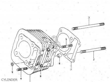Suzuki Lt-f4 1998 wdxw Cylinder