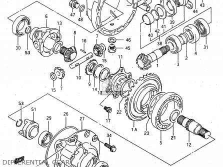Suzuki Lt-f4 1998 wdxw Differential Gear
