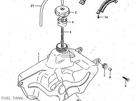 Suzuki Lt-f4 1998 wdxw Fuel Tank