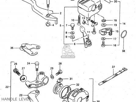 Suzuki Lt-f4 1998 wdxw Handle Lever