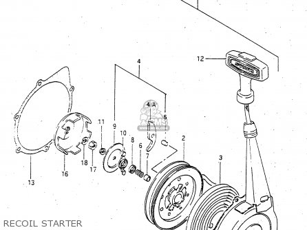 Suzuki Lt-f4 1998 wdxw Recoil Starter