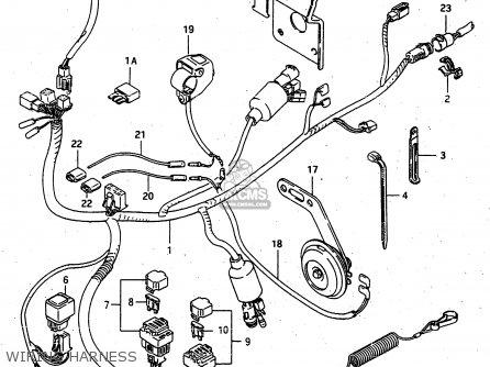 Suzuki Lt-f4 1998 wdxw Wiring Harness