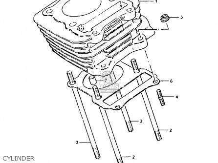 suzuki lt125 1983  d  parts list partsmanual partsfiche