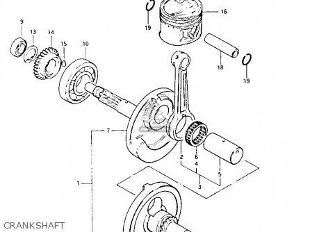 Suzuki Lt125 1984 e Crankshaft