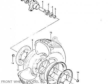 Suzuki Lt125 1984 e Front Wheel model D