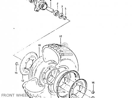 Suzuki Lt125 1984 e Front Wheel
