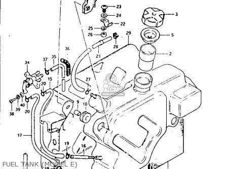 Suzuki Lt125 1984 e Fuel Tank model E