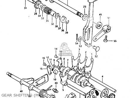 Suzuki Lt125 1984 e Gear Shifting model D