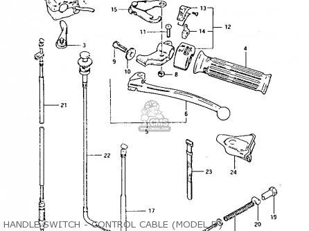 Suzuki Lt125 1984 e Handle Switch - Control Cable model D
