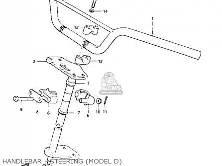 Suzuki Lt125 1984 e Handlebar - Steering model D