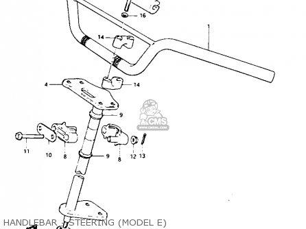 Suzuki Lt125 1984 e Handlebar - Steering model E