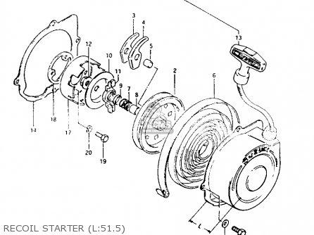 Suzuki Lt125 1984 e Recoil Starter l 51 5