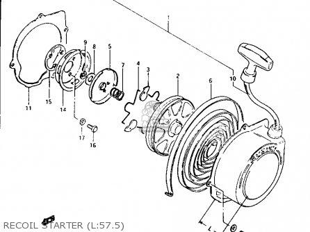 Suzuki Lt125 1984 e Recoil Starter l 57 5