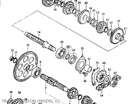 suzuki lt125 1984  e  parts list partsmanual partsfiche