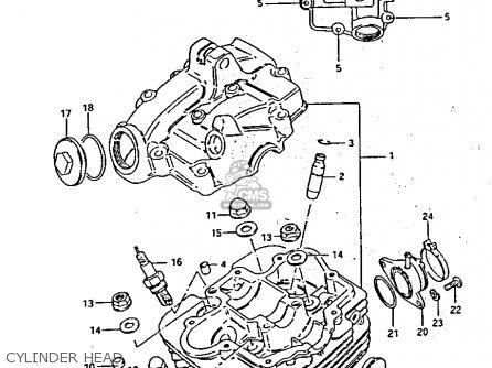 Diagram Of Suzuki Atv Parts 1985 Lt125 Cylinder Head Diagram