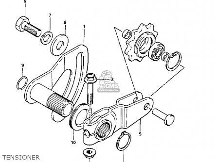 suzuki lt125 1985  f  parts list partsmanual partsfiche