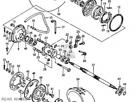 suzuki lt125 1987  h  parts list partsmanual partsfiche