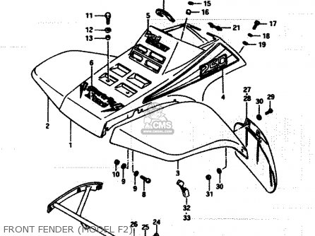 Suzuki Lt250 1986 efg Front Fender model F2
