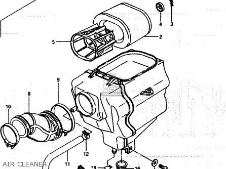 Suzuki Lt250ef 1986 g Air Cleaner