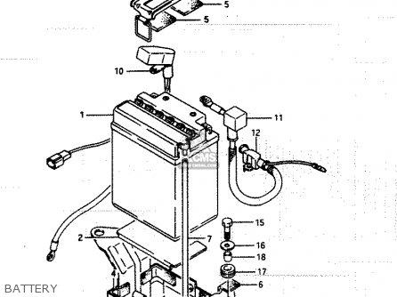 Suzuki Lt250ef 1986 g Battery