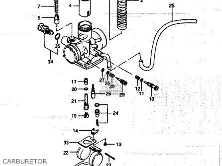 Suzuki Lt250ef 1986 g Carburetor