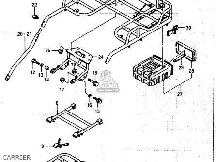 Suzuki Lt250ef 1986 g Carrier