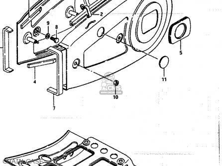Suzuki Lt250ef 1986 g Chain Case