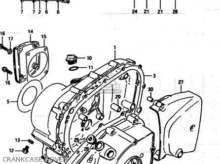 Suzuki Lt250ef 1986 g Crankcase Cover
