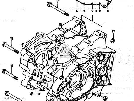 Suzuki Lt250ef 1986 g Crankcase