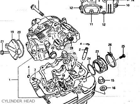 Suzuki Lt250ef 1986 g Cylinder Head