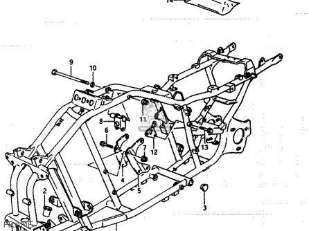 Suzuki Lt250ef 1986 g Frame