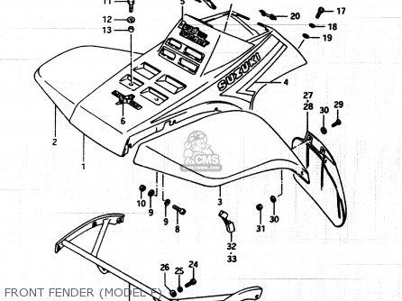 Suzuki Lt250ef 1986 g Front Fender model F