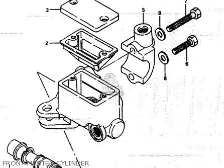 Suzuki Lt250ef 1986 g Front Master Cylinder