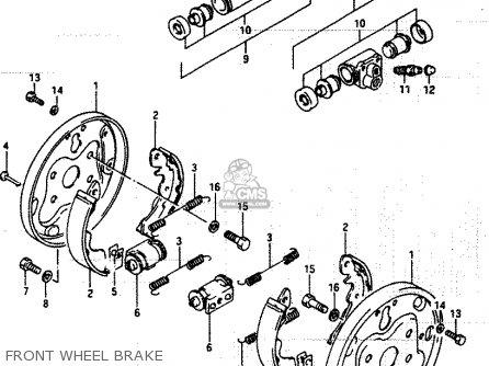 Suzuki Lt250ef 1986 g Front Wheel Brake