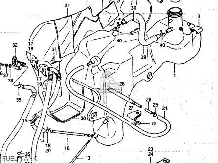 Suzuki Lt250ef 1986 g Fuel Tank
